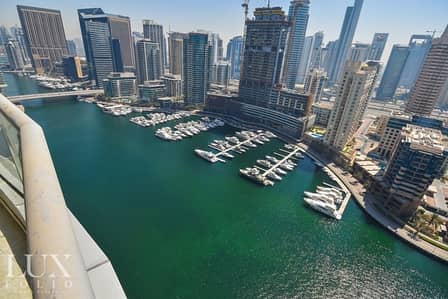 2 Bedroom Flat for Rent in Dubai Marina, Dubai - Fully Furnished   Marina View   Bright Rooms