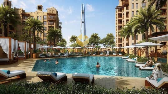 2 Bedroom Apartment for Sale in Umm Suqeim, Dubai - Burj Al Arab view l 2 Bedrooms at the first free hold prestigious project in Jumeirah l selling Fast seize  opportunity