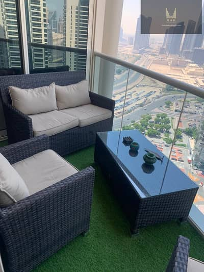 1 Bedroom Apartment for Rent in Jumeirah Lake Towers (JLT), Dubai - High-Floor | Partial Lake View | Great Location with Stunning View