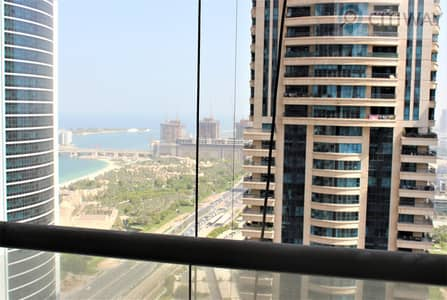 2 Bedroom Flat for Rent in Dubai Marina, Dubai - Sea and Marina View | High Floor | 2 BR