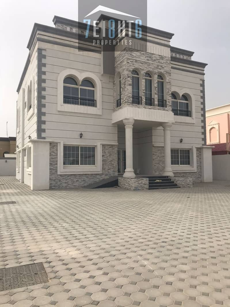Outstanding quality: 5 b/r independent villa + maids room + stunning landscaped garden for rent in Khawaneej 2