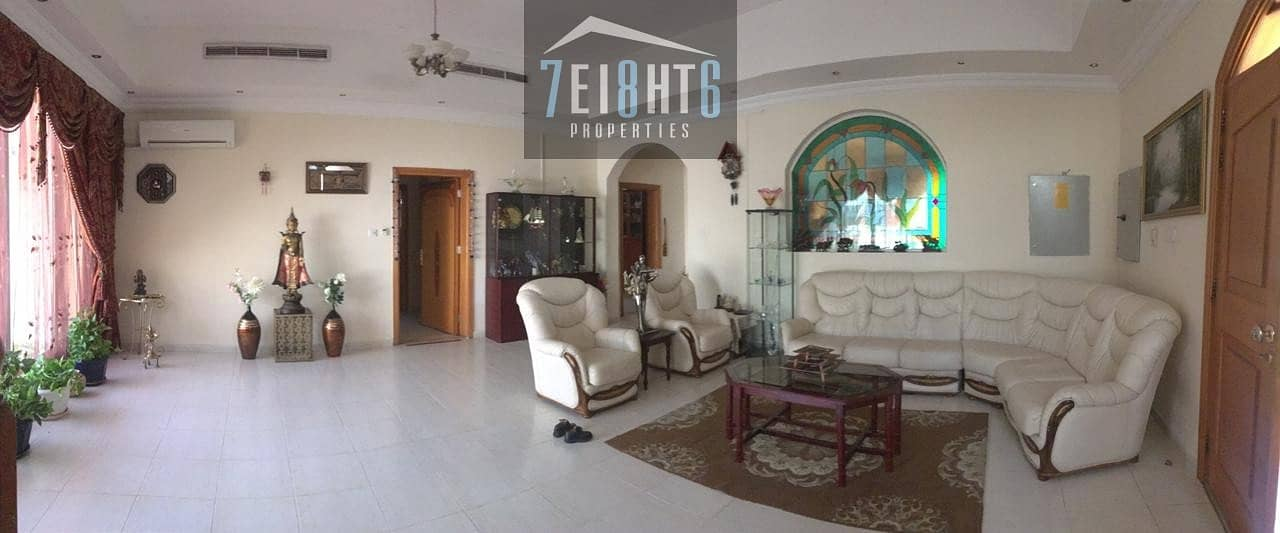 2 Outstanding property: 5 b/r good quality independent villa + maids room + large stunning garden for rent in Nad Al Hamma