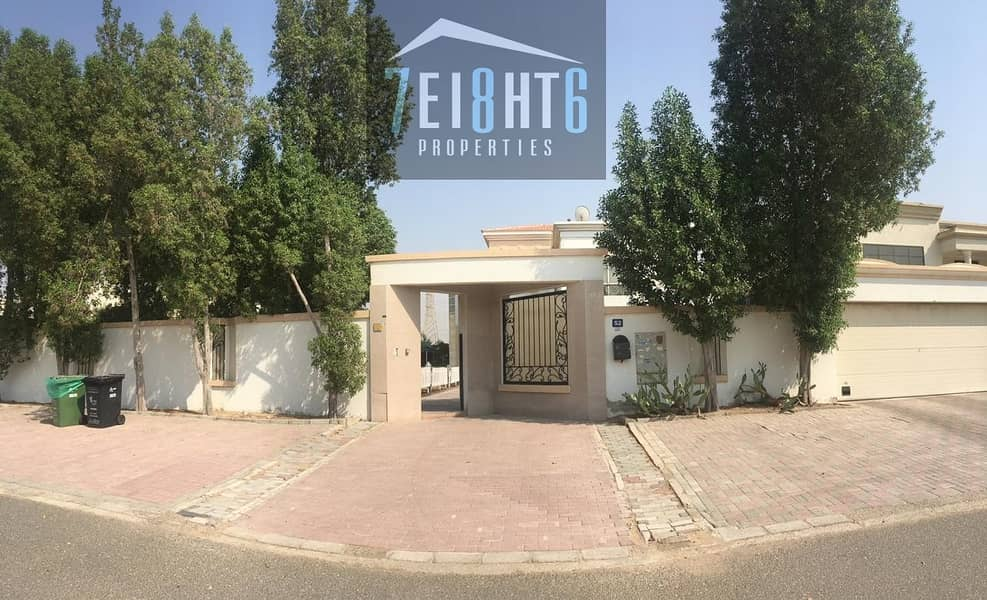 10 Outstanding property: 5 b/r good quality independent villa + maids room + large stunning garden for rent in Nad Al Hamma