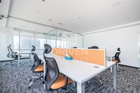 مکتب  للايجار في الخليج التجاري، دبي - Well-managed and Fully Fitted Office for Rent