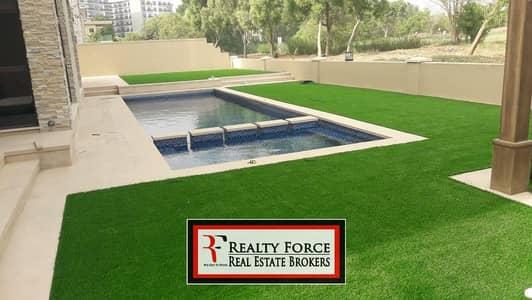 6 Bedroom Villa for Sale in Jumeirah Golf Estate, Dubai - GOLF & LAKE VIEW   BRAND NEW 6 BR VILLA   VACANT