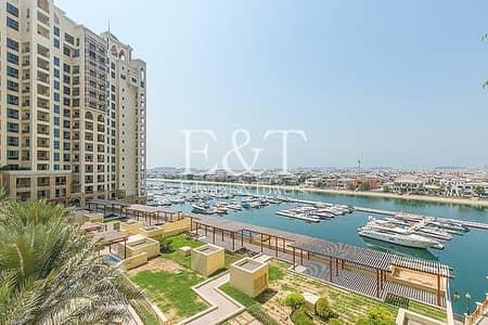 فلیٹ 2 غرفة نوم للايجار في نخلة جميرا، دبي - Mid Floor | Marina Sea View |Upgraded Kitchen