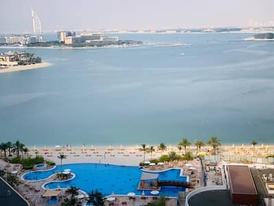 شقة 1 غرفة نوم للايجار في نخلة جميرا، دبي - Full Burj al Arab and Sea View | Freshly Painted