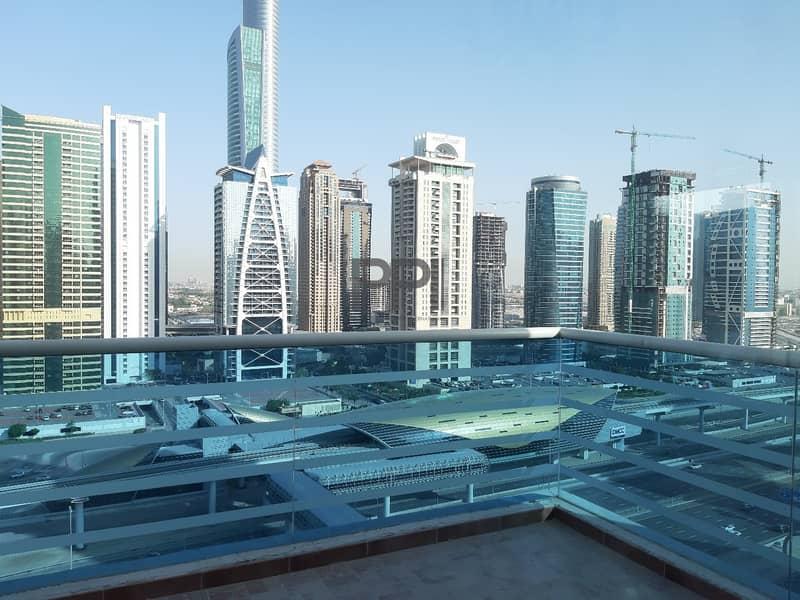 11 Amazing Sheikh Zayed Rd & La Riviera bldg view with 3 Balconies.