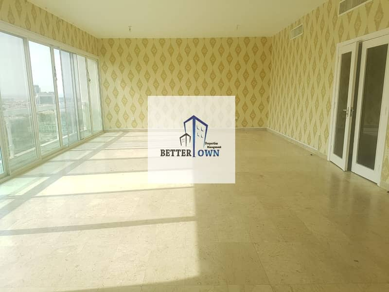 New Building! SEA VIEW | 4 BHK BIG Kitchen | Maids Room | Balcony | 90K!