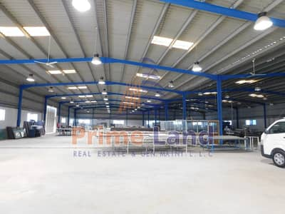 Warehouse for Rent in Mussafah, Abu Dhabi - AED173 per Square Meter 3000Sqm + 2200 Yard