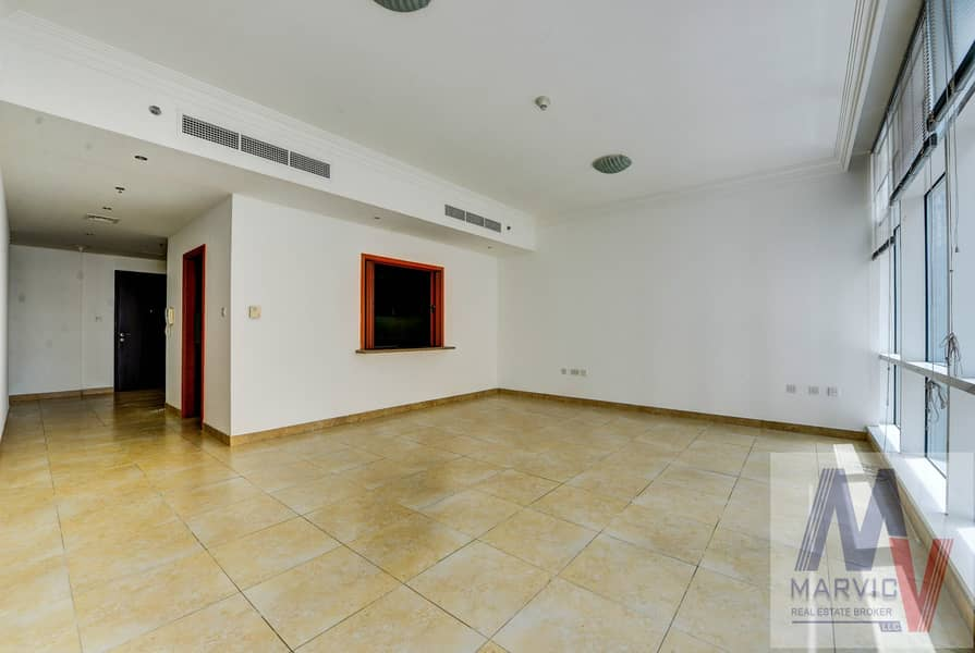 2 Spacious Unit | 2 Beds | Marina View | Unfurnished