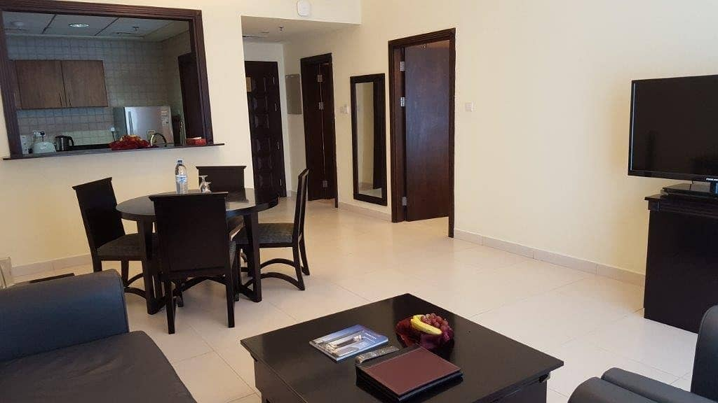 2 Spacious Furnished 1 BHK - Chiller Free.