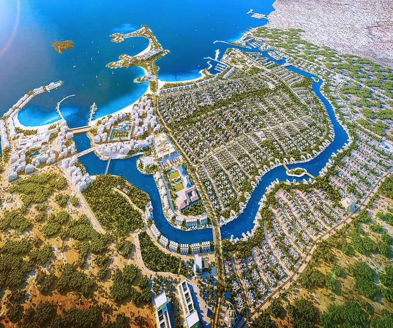 Residential lands for sale fir the first time on the uae coast within a nature reserve with 6.5 years installments .