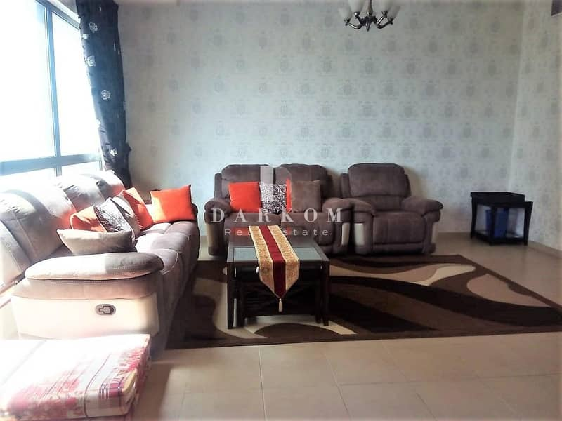 Fully Furnished   2 BR   Partial Sea and Marina View   High Floor   Amwaj 4