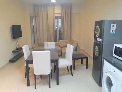 1 Bedroom Apartment for Rent in Jumeirah Village Circle (JVC), Dubai - Chiller Free Building | Fully Furnished 1 B/R Apt.