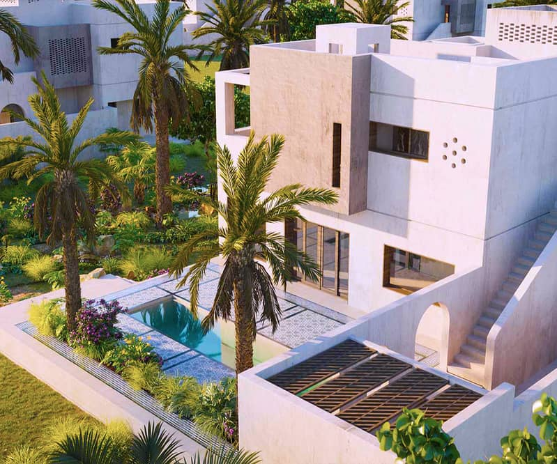For those who love nature and privacy, own a villa inside a nature reserve on the coast of the Emirates, the first project of its kind, in installments over 7.5 years