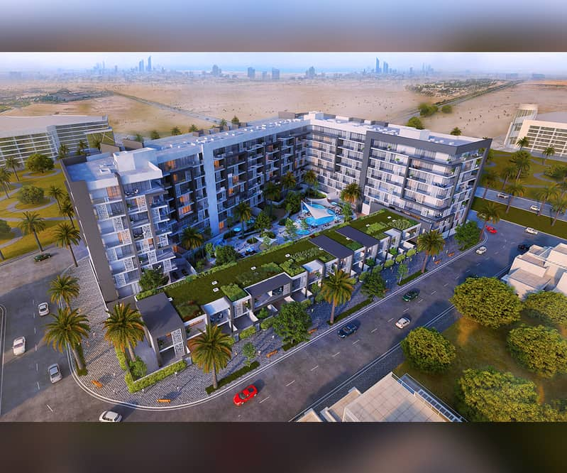 Own your apartment inside Masdar City (source of renewable energy) inside closed community, with full services, with 5 years installments.