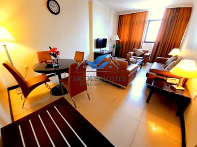 1 Bedroom Flat for Rent in Tourist Club Area (TCA), Abu Dhabi - Excellent Fully Furnished 1BHK 2 bathroom 45k 4 payment