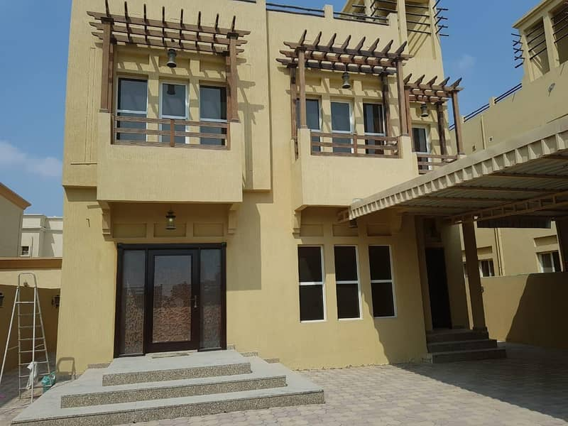 Hot Deal 5-Bedroom Villa with central Ac ,5 master rooms + maid room for rent in Al Mowaihat Ajman