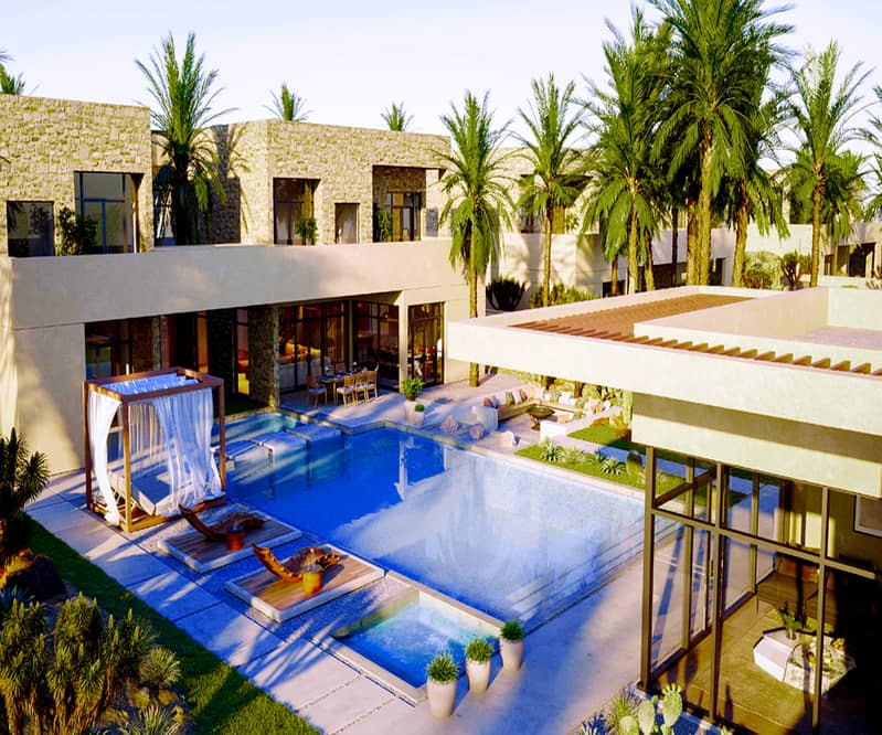 Villa For Sale in a nature reserve on the most beautiful coasts of the emirates in Abu Dhabi with 7 years installments