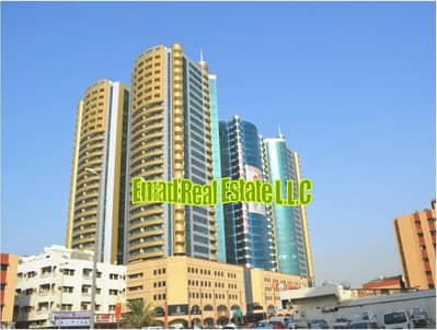 1 Bedroom Flat for Rent in Ajman Downtown, Ajman - Horizon Towers: 1 Bed Hall with Parking (1287 sqft) very big