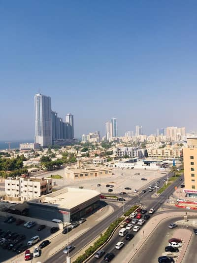 1 Bedroom Flat for Rent in Al Sawan, Ajman - 1 bhk sea view with free parking in Ajman one tower