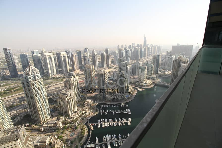 Unfurnished 2BR | Full Marina View | High Floor