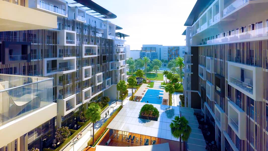 Apartment for sale in Masdar City Abu Dhabi with a down payment of 140,000 and a monthly installment of only 7500 dirhams
