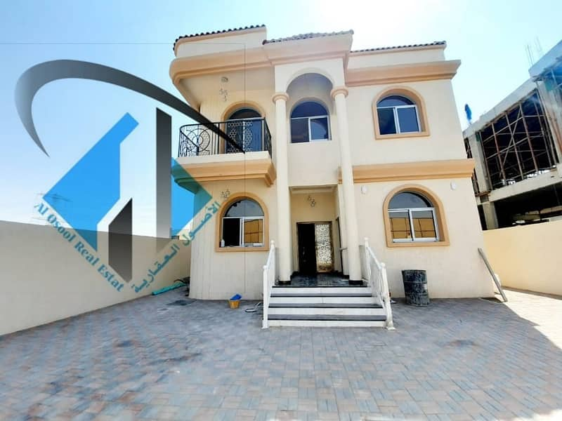 Villa for sale in the emirate of Ajman, Al Yasmeen area, excellent new finishing, first inhabitant
