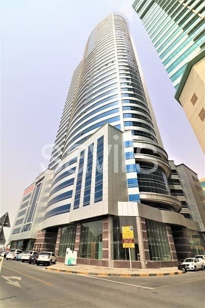 Office for Rent in Al Majaz, Sharjah - Chiller and Parking free Brand new office for Rent