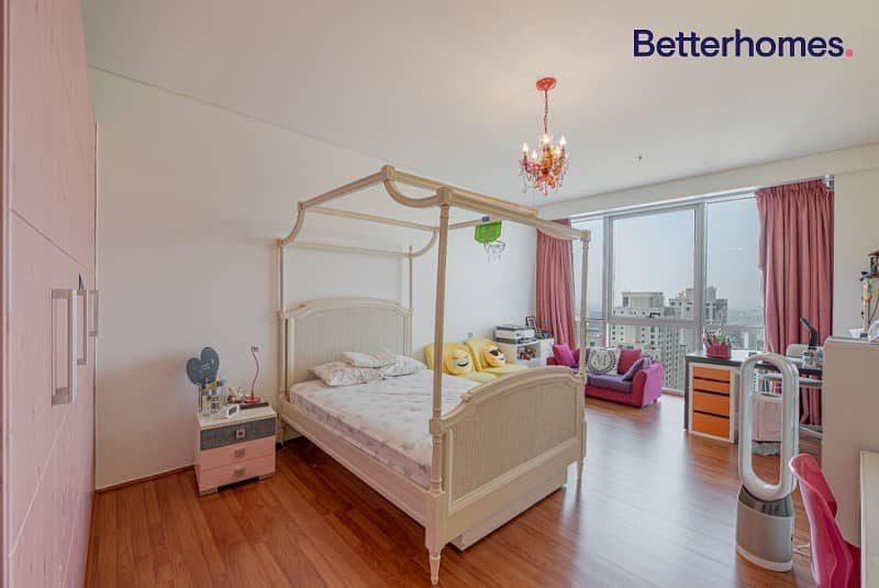 2 Full Sea View|Top Floor|Fully Furnished|Maids Room