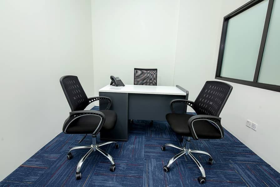AED 2,000/- Monthly Price, Well Furnished Offices, No Commission, Free assistance.