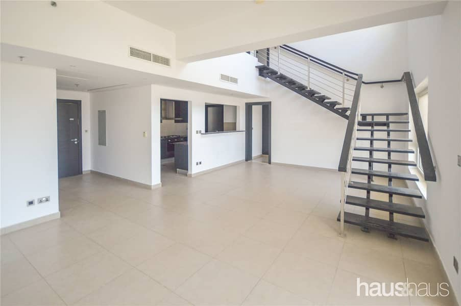 Vacant | Large Balcony | 3 BR + Maids Duplex