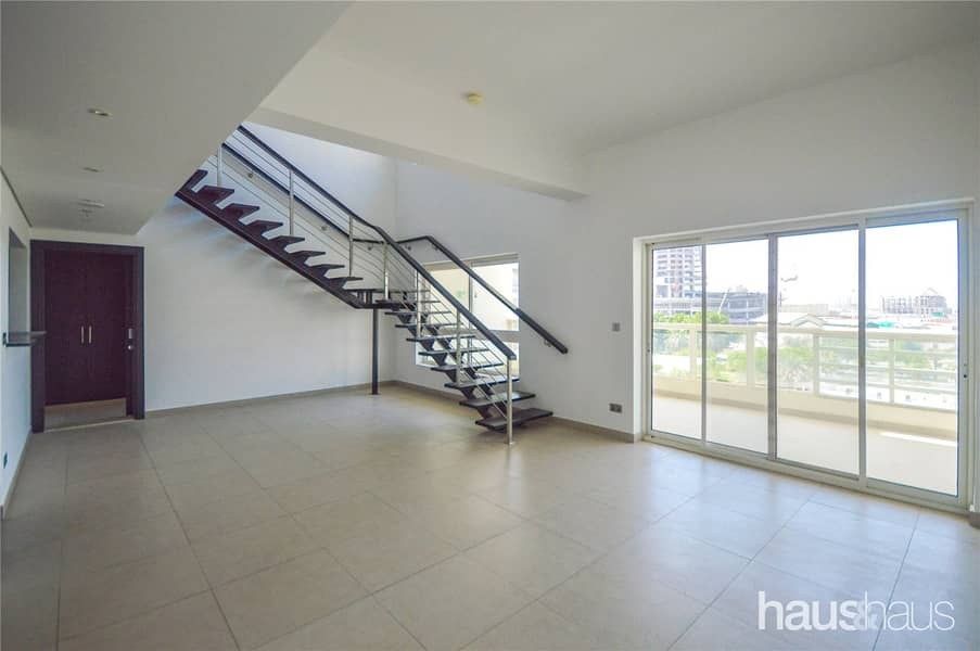 2 Vacant | Large Balcony | 3 BR + Maids Duplex