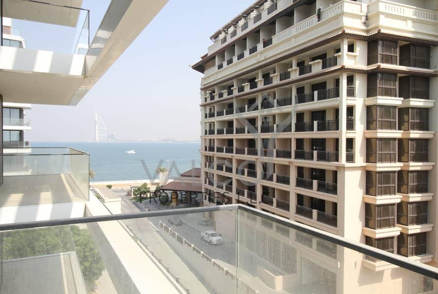 Luxurious 2 BR Beachfront Apt | Burj Al Arab View