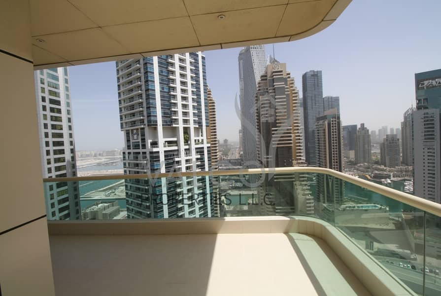 Huge Unfurnished 2BRIMarina & Partial Sea View