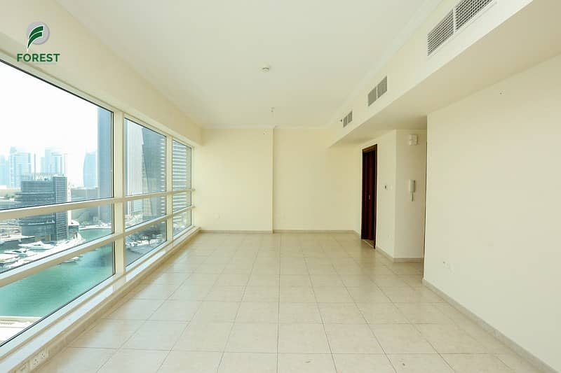 Exclusive | Vacant | Fully Furnished |Marina & Sea