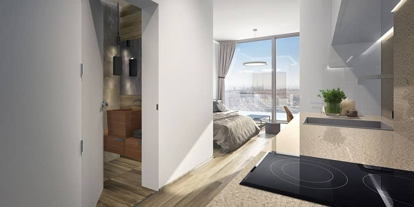 2 One- Bedroom Furnished Apartment with 4- Years Payment Plan at Jabel Ali by Azizi Development