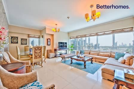 3 Bedroom Flat for Rent in Jumeirah Lake Towers (JLT), Dubai - High Floor   Marina Skyline View   With Maids Room