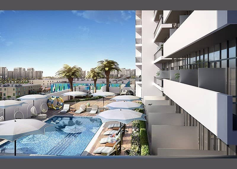 9 One- Bedroom Furnished Apartment with 4- Years Payment Plan at Jabel Ali by Azizi Development