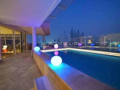 شقة 4 غرف نوم للبيع في نخلة جميرا، دبي - Sea view | Glorious terrace pool | Furnished 4Beds