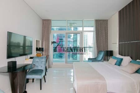Studio for Rent in Business Bay, Dubai - Full Canal View | Furnished | Studio Apartment