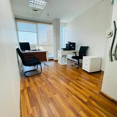 Office for Rent in Deira, Dubai - PRIVATE FITTED Offices for Rent/ Near Metro/FREE DEWA/FREE WIFI/ FREE RECEPTION SERVICES ITS IN THE HEART OF DEIRA