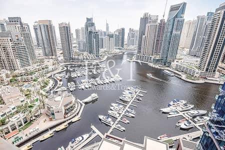 فلیٹ 3 غرف نوم للايجار في دبي مارينا، دبي - Full Marina View | 3BR+Maids | Vacant | Free AC