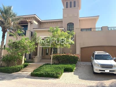 5 Bedroom Villa for Rent in Saadiyat Island, Abu Dhabi - Glamorous 5BR Fully Furnished Corner Villa w/ Private Pool