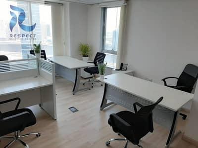 مکتب  للايجار في الخليج التجاري، دبي - Flexi Desk/Estidama For Trade License Renewal For AED 2