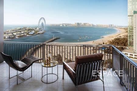 فلیٹ 1 غرفة نوم للبيع في دبي مارينا، دبي - Full Sea Views   High Floor   Brand New Resale