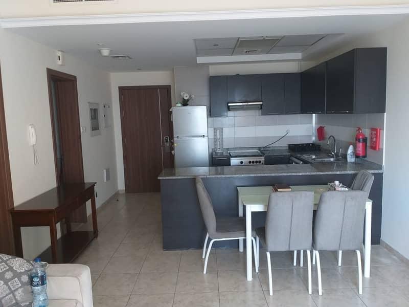 Furnished 1 BR+Hall with 2 bath, Balcony, parking in Imperial Residence JVT, o5o2828031