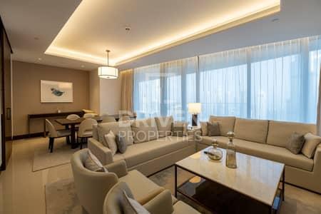 شقة 3 غرف نوم للايجار في وسط مدينة دبي، دبي - 3+Maids | Full Burj Khalifa View | High Floor