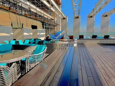 فلیٹ 2 غرفة نوم للايجار في دانة أبوظبي، أبوظبي - Lavish Master 2BHK + Maids Room I Huge Balcony I Parking Pool GYM All Facilities at Danet Abu Dhabi